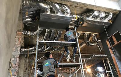 thi công điều hòa âm trần nối ống gió chuyên nghiệp tại Hải Dương